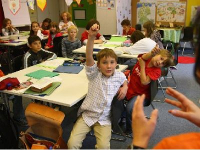 "A simple classroom management approach for a ""young class."""